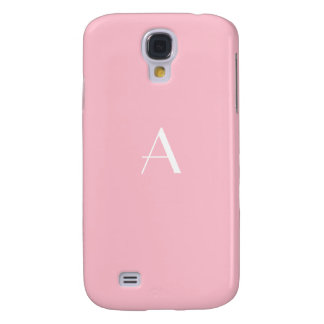 Feminine Soft Pink Monogram Galaxy4 Case