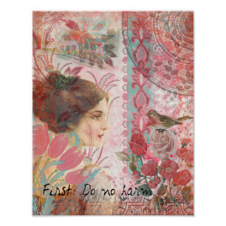 Feminine Soft Sweet Collage - First Do No Harm Poster