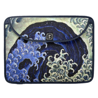 Feminine Wave (Detail) by Hokusai Sleeve For MacBook Pro