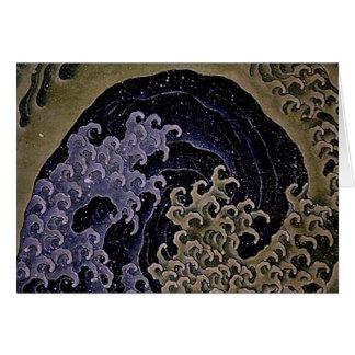 Feminine Wave, Hokusai Japanese Fine Art Card