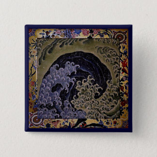 Feminine Wave, Hokusai Japanese Fine Art Pinback Button