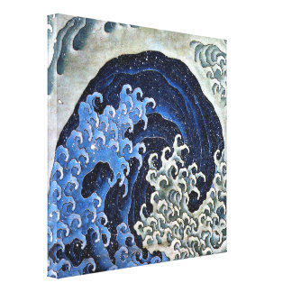 Feminine Wave. Katsushika Hokusai Stretched Canvas Print