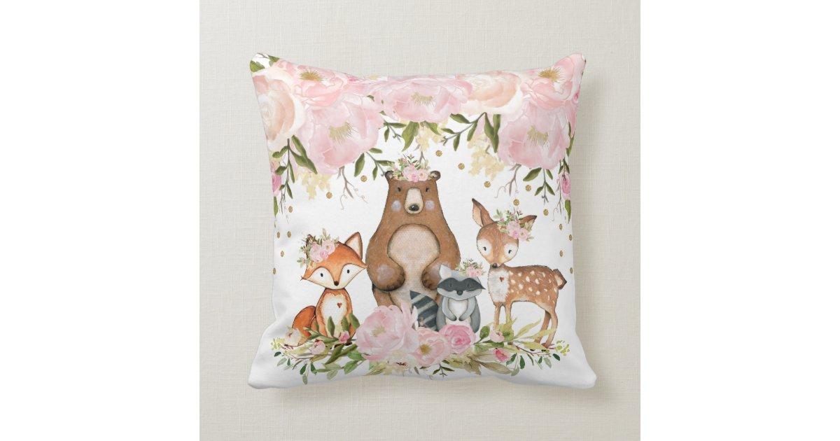 Forest Nursery Decor Throw Pillow