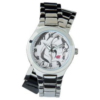 "Feminine wristwatch silverplated ""Woman Vector """