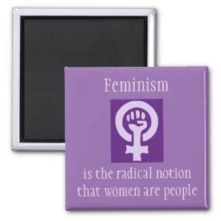 Feminism 2 Inch Square Magnet