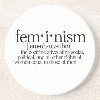 Feminism Defined Beverage Coasters