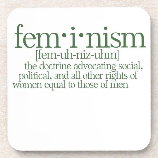 Feminism Defined Drink Coaster