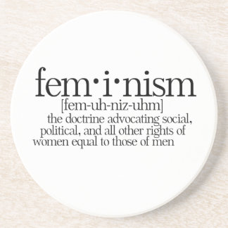 Feminism Defined Drink Coaster