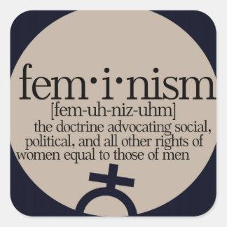 Feminism Defined Square Sticker
