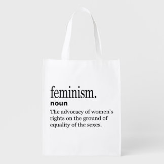 Feminism Definition Grocery Bag
