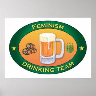 Feminism Drinking Team Poster
