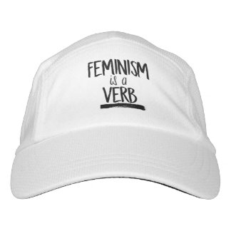 Feminism is a Verb --  Headsweats Hat