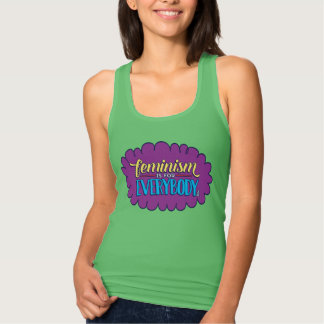 Feminism is for Everybody Fitted Green Tank
