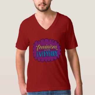 Feminism is for Everybody Unisex Red V-Neck T Shirt