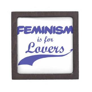Feminism is for Lovers - Blue Premium Keepsake Box