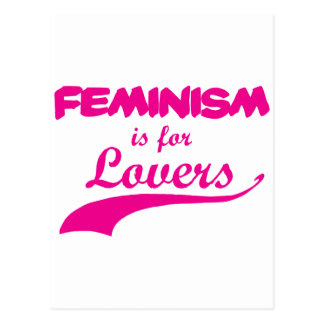 Feminism is for lovers Pink Postcard