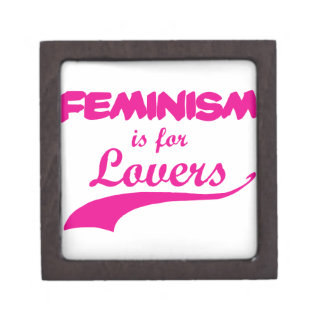 Feminism is for lovers Pink Premium Jewelry Box