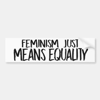 Feminism just means equality - Feminist Bumper Sti Bumper Sticker