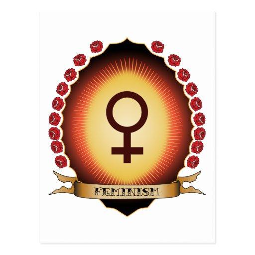 Feminism Mandorla Postcard