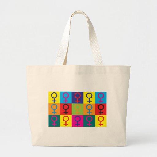 Feminism Pop Art Large Tote Bag