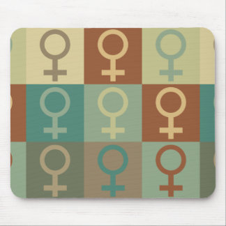 Feminism Pop Art Mouse Pad