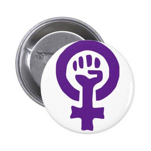 Feminism Symbol Pinback Buttons