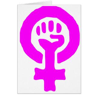 Feminism Symbol Card