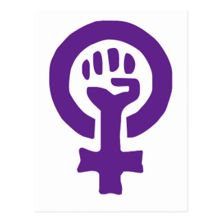 Feminism Symbol Postcard