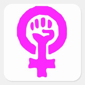 Feminism Symbol Square Sticker