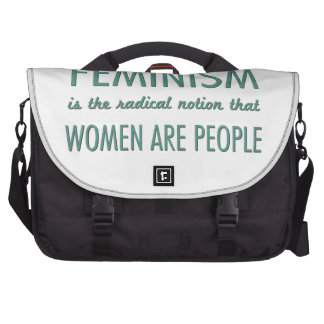 Feminism: The Radical Notion that Women are People Laptop Computer Bag