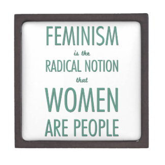 Feminism: The Radical Notion that Women are People Premium Trinket Boxes