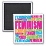 Feminismo colorido imán de frigorífico
