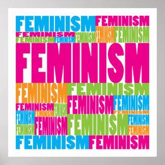 Feminismo colorido poster
