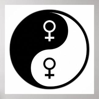 Feminismo de Yin Yang Poster