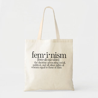 Feminismo definido bolsa tela barata