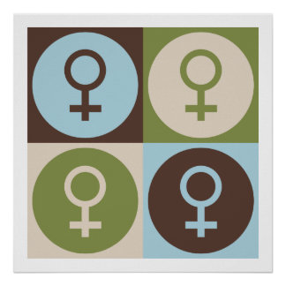 Feminismo del arte pop poster