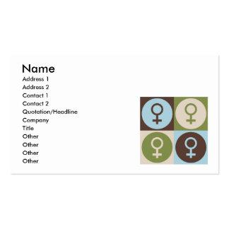 Feminismo del arte pop tarjetas de visita