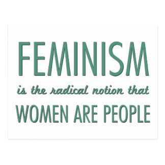 Feminismo: La noción radical que las mujeres son g Postales