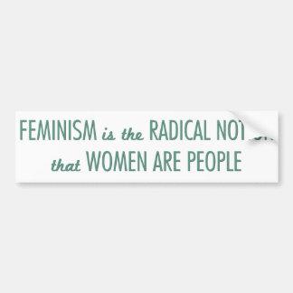 Feminismo: La noción radical que las mujeres son Pegatina Para Auto