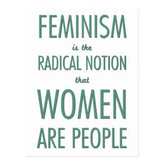 Feminismo: La noción radical que las mujeres son Tarjeta Postal