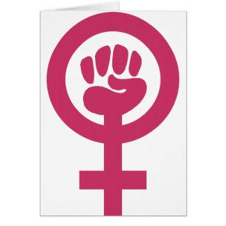 Feminismo para el triunfo tarjeta de felicitación