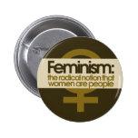 Feminismo para las mujeres pins