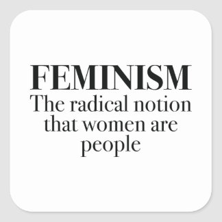 Feminismo Pegatina Cuadrada