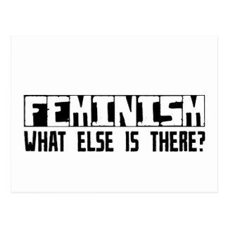 ¿Feminismo qué más está allí? Tarjeta Postal