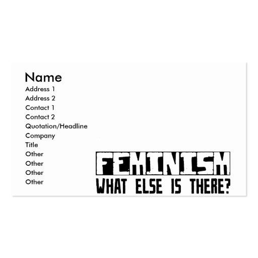 ¿Feminismo qué más está allí? Tarjetas De Visita