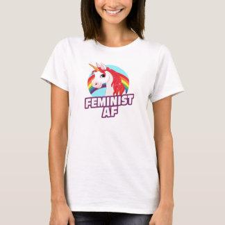 Feminist AF - Rainbow Unicorn --  T-Shirt