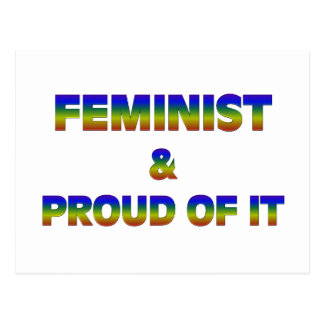 Feminist and Proud 1 Postcard