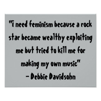 Feminist Art - Wood Canvas Quotes - Gifts Poster