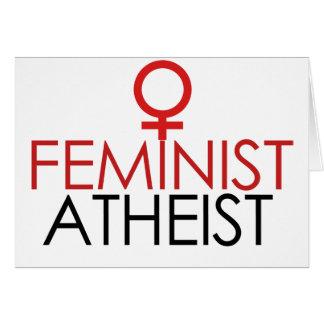 Feminist Atheist Card