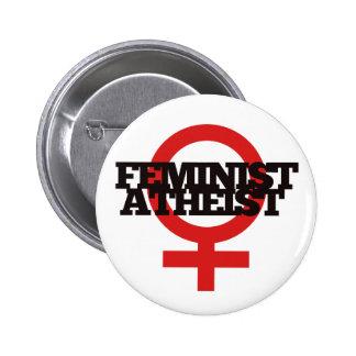 Feminist Atheist Pinback Button
